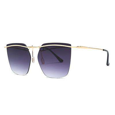 Irregular Rimless Colour Gradient Designer UV400 Sunglasses