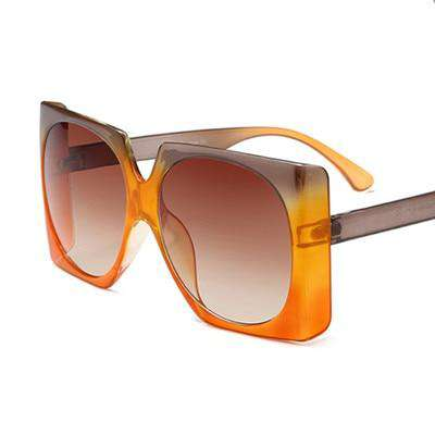 Square Oversized Big Frame Designer Luxury UV400 Sunglasses