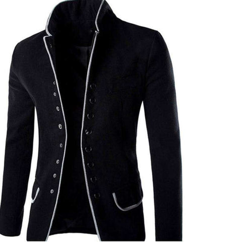 Stand Collar Single Breasted Slim Fit Suit Button Blazers