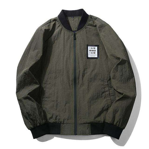 Military Style Windbreaker Bomber Jacket