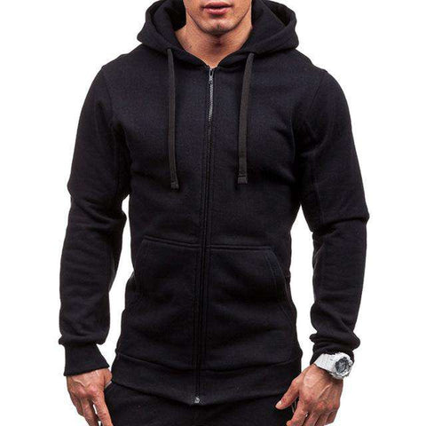 Hooded Long SleeveSlim Sweatshirt