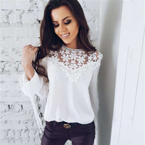 Butterfly Sleeve O Neck Lace Top