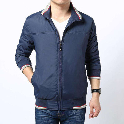 Rib sleeve Stand Collar Jacket