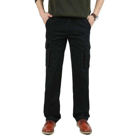 Loose Long Cotton Multi Pocket Pants