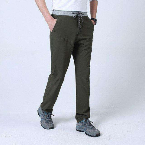 Mid Waist Thin Large Size Cotton Elastic Long Military Trousers Pants