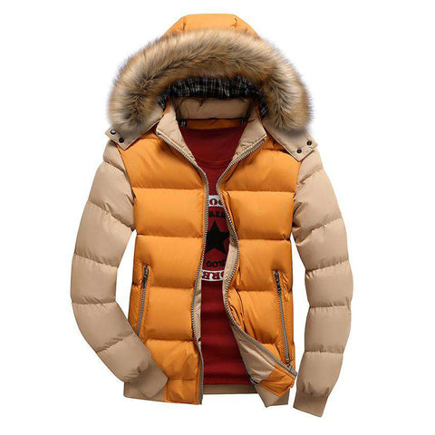 Thickened Thermal Cotton-Padded Detachable Hat Jacket