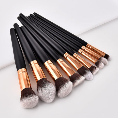 Professional 10 Type Soft Makeup Brushes