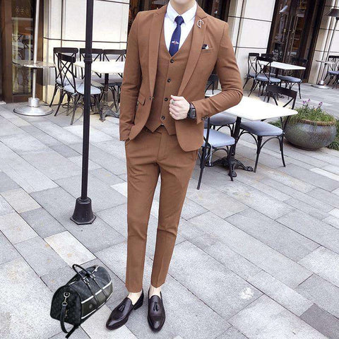 Single Breasted Business Slim Fit Tuxedo Suit