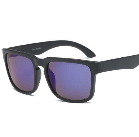 UV400 Designer Retro Mirror Square Sunglasses