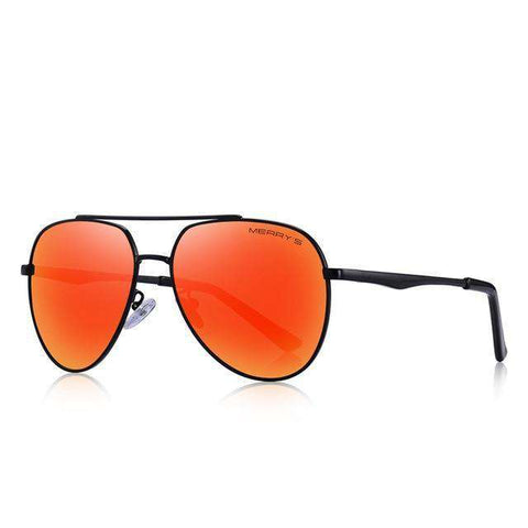 Classic Pilot Aviation Frame HD Polarised Sunglasses For Driving UV400 Protection