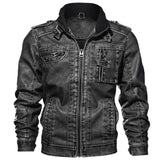 Slim Fit Motorcycle PU Leather Jacket