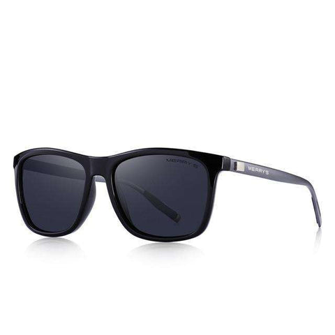 Classic Square Polarised Aluminium Legs Lighter Design UV400 Protection Sunglasses