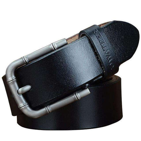 Genuine Leather Strap Alloy Pin Buckle Straps Belt