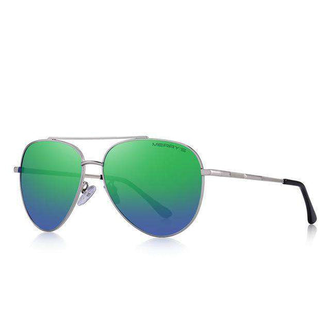 Classic Pilot Aviation Frame HD Polarised Driving UV400 Protection Sunglasses