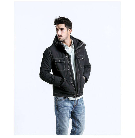 Hooded Warm Parka Bomber Jacket