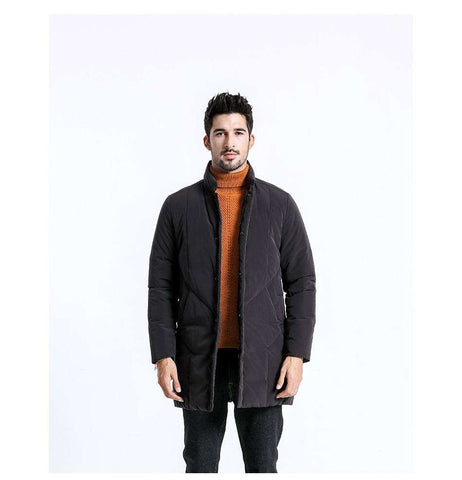 Duck Down Long Warm Slim Fit Jacket Coat