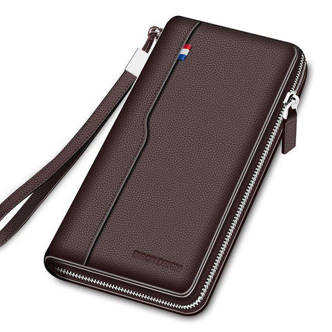Genuine Leather Large Capacity Card Holder Money Purse Wallet