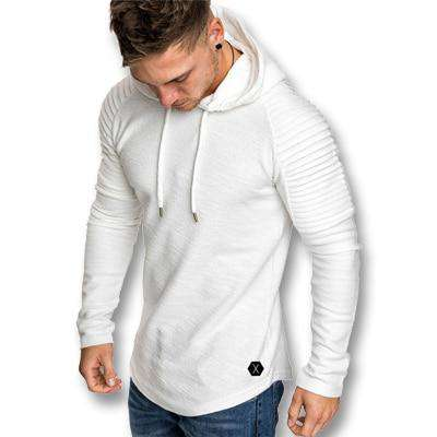 Hooded Slim Fit Large Size Long Sleeved Pullover Tshirt