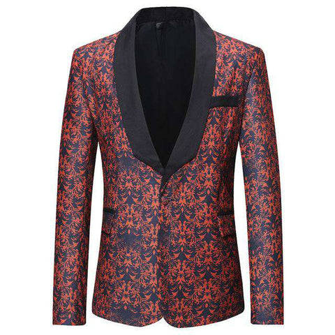Printed Galaxy Floral Pattern Fancy Blazer