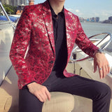 Fashionable Slim Fit Printed Blazer