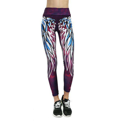 Push Up 3D Wing Elastic Leggings