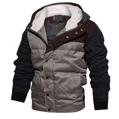Warm Parkas Thick Fleece Cotton Hooded Jacket