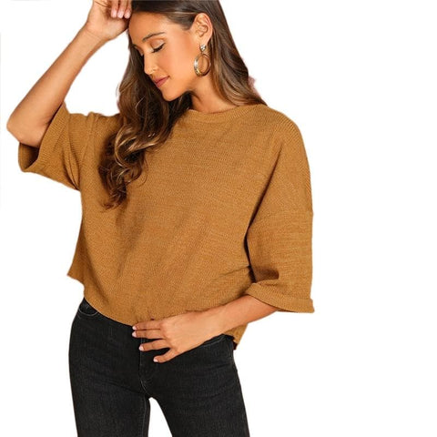 Burgundy Drop Shoulder Tshirt Top