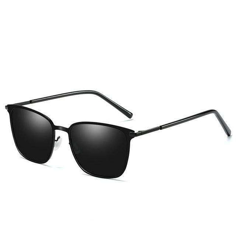 Polarized Mirrored Alloy Frame Sunglasses
