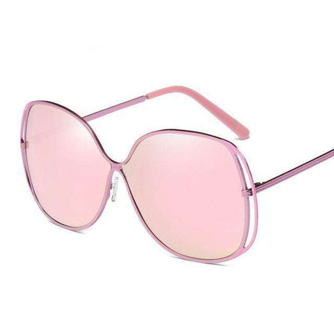 Oversized Polarized Butterfly Mirrored Sunglasses