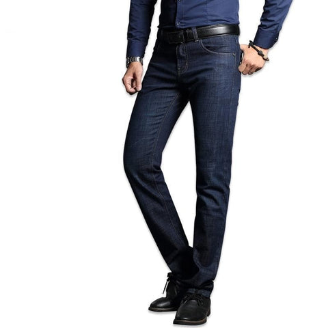 Stretch Blue Straight Slim Fit Jeans