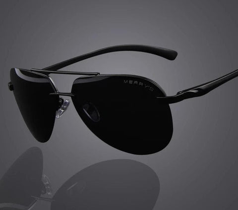 100% Polarized Aluminum Alloy Frame Fashion Driving Sunglasses