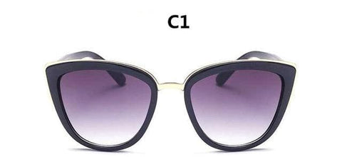 Retro Cat Eye Designer Mirror Fashion Big Sunglass UV400