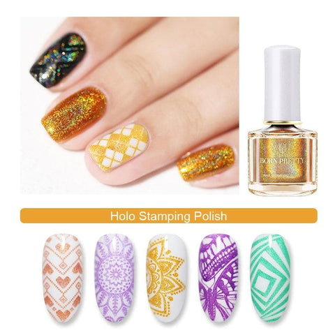 Holographic Nail Stamping Polish Varnish