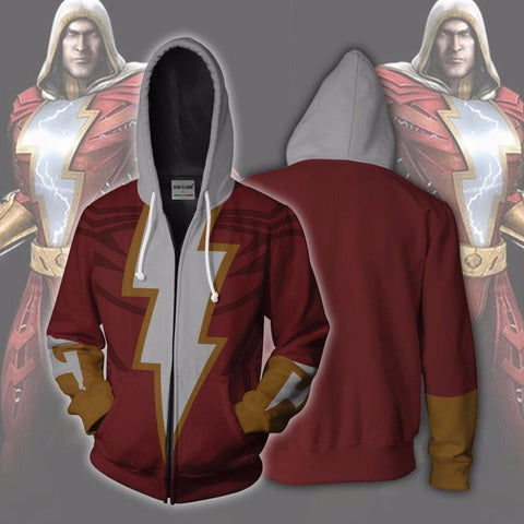 Shazam Zip Up Legion 3D printed Zipper Hoodies Sweatshirt