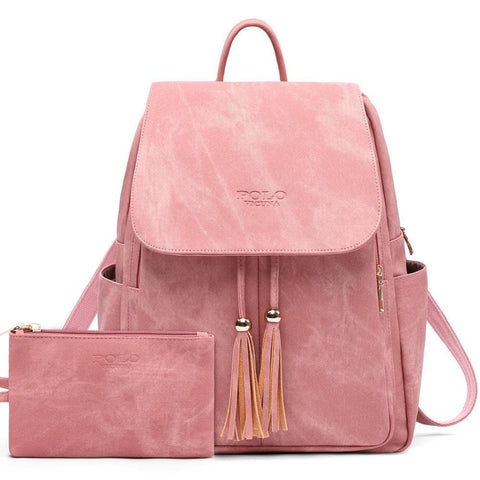 High Quality Leather Backpacks for Teenage Girls