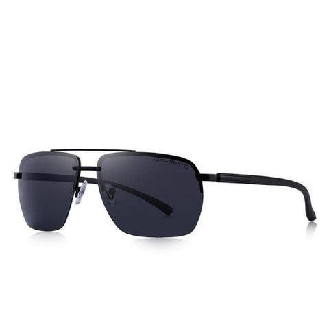 Rectangle Rimless Luxury Polarized UV400 Protection Sunglasses