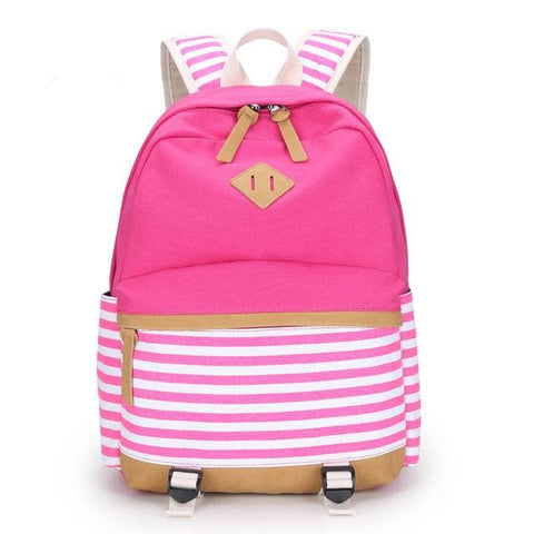 Striped Fringe 15.6 inch Laptop Backpack