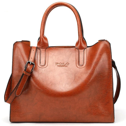 Soft Leather Large Capacity Shoulder Bag