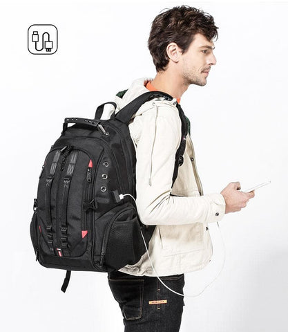 45L 15.6 Laptop USB Anti theft Travel backpack