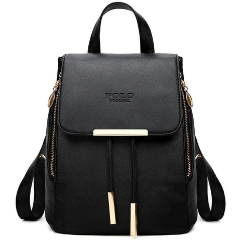 Leather Backpack With Extended Design