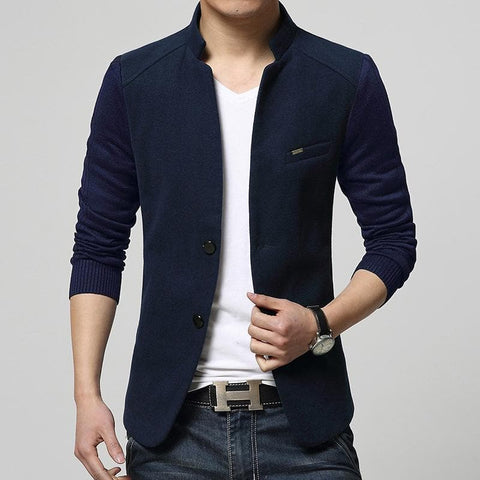 Single Breasted Luxury High Quality Cotton Slim Fit Blazers