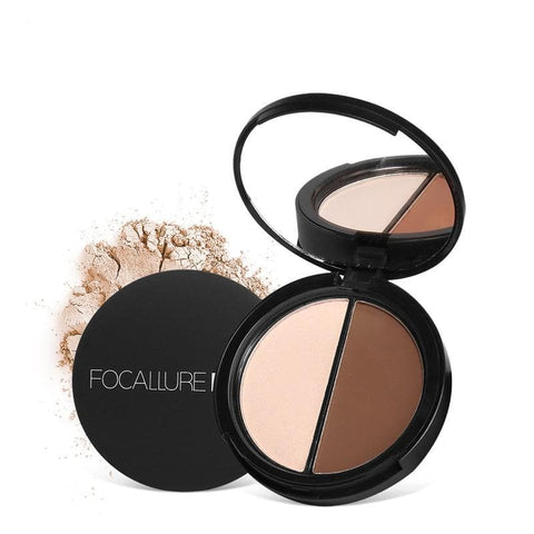 Waterproof Face Highlighter Palette Bronzer Illuminator