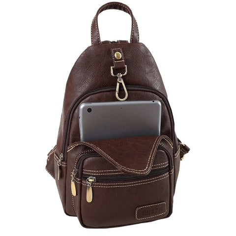 Multifunction Vintage Soft Artificial Leather Mini Backpack