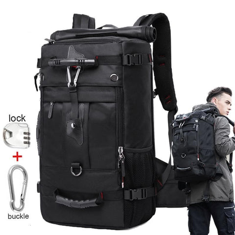 50L Waterproof Multifunction 17.3 Laptop Travel Backpack