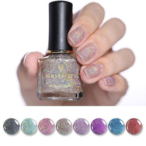 Nail Art Varnish Lacquer Eco-friendly Holographic Shimmer Nail Polish 6ml