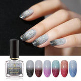 6ml Nail Polish Holographic Temperature Color Changing Nail Varnish Glitter Shimmer