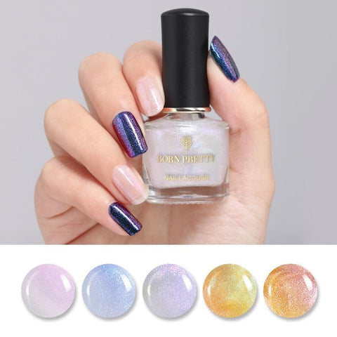 6ml Chameleon Top Coat Shining Pearl Glitter Colorful Nail Art Care Nail Polish Varnish