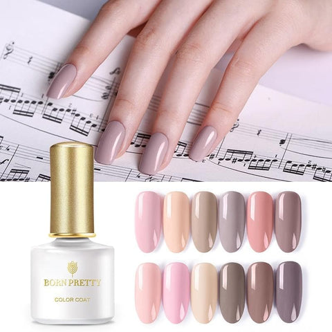 Nature Series 6ml Nail Gel Polish Nude Pure Nail Color UV LED Gel Lacquer
