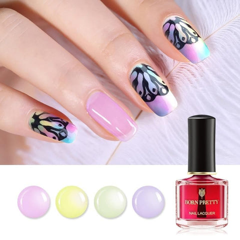 6ml Glossy Gradient Top Coat Nail Polish Nail Varnish Lacquer Special for Nail Art