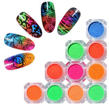 Neon Phosphor Powder Nail Glitter Dust Luminous Pigment Fluorescent Nail Art Decoration Summer Theme